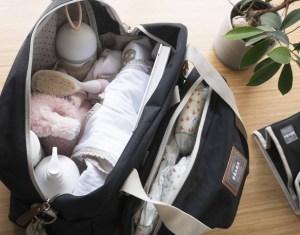 Inside of Beaba Must Have Modern Diaper Bag