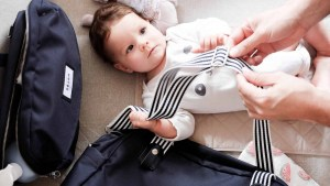 Baby next to Beaba must have modern diaper bag