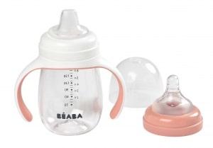 Beaba 2-in-1 Training Bottle Rose