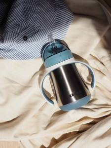 Stainless Steel Cup on bedding