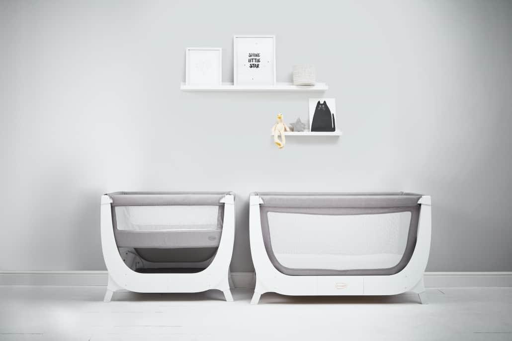 Shnuggle Air Bedside Crib Converted To Full Size Crib