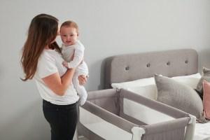 Beaba By Shnuggle Air Bedside Sleeper Infant Crib Next To Mom