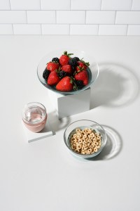 Beaba Glass Meal Set with Fruit, water and cheerios