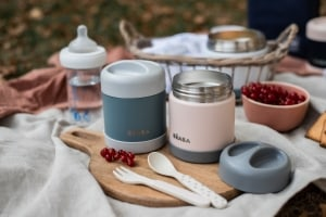 Stainless Steel Jar in Eucalyptus and Rose on Picnic Blanket