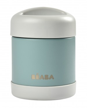 BEABA STAINLESS STEEL INSULATED JAR 10oz Eucalyptus