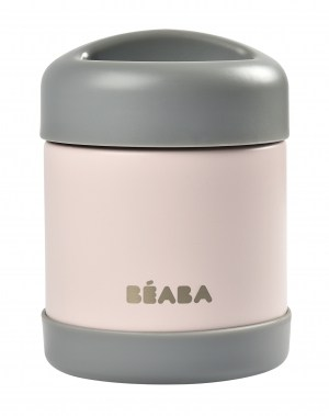 Beaba Stainless Steel Insulated Jar 10oz Rose