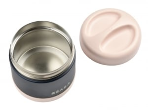 Stainless steel jar midnight open