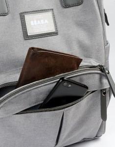 Front Open Pocket of Wellington Backpack Diaper Bag Cloud