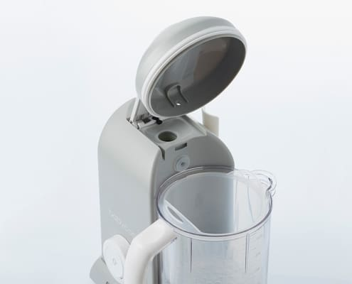 Babycook Solo in Cloud with lid open