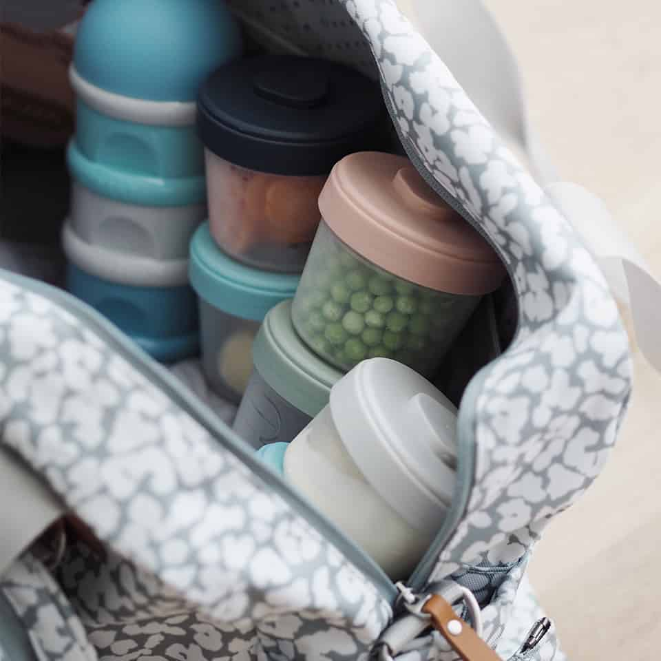 Beaba Clip Containers in diaper bag