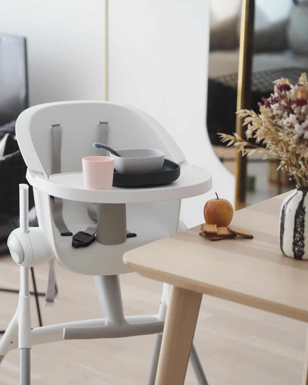 Silicone Suction Meal Set Midnight on High Chair