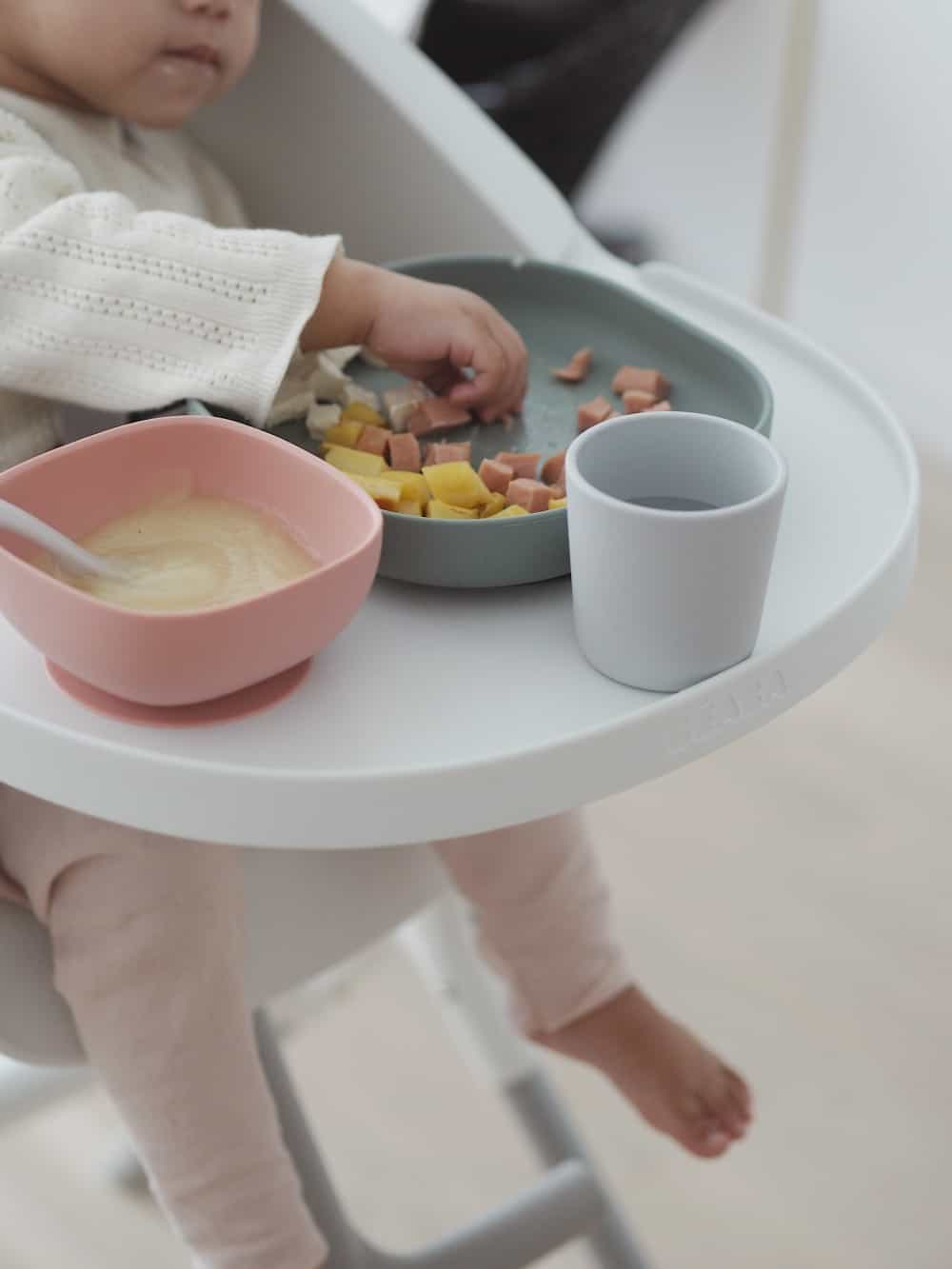Silicone Suction Meal Set Eucalyptus Toddler Eating From High Chair