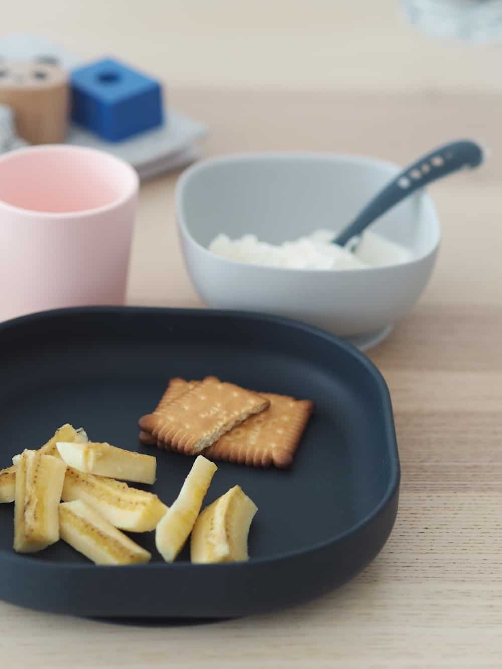 Silicone Suction Meal Set Midnight