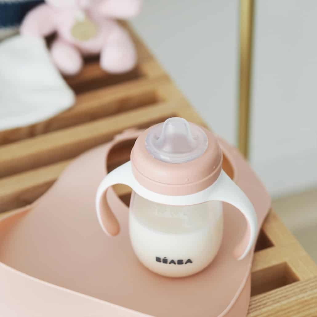 baby bottle with milk in it