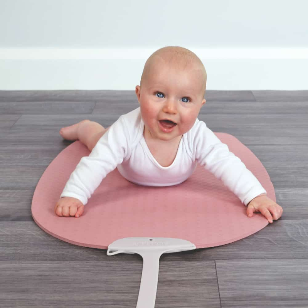 Little Girl on Baby Yoga Mat
